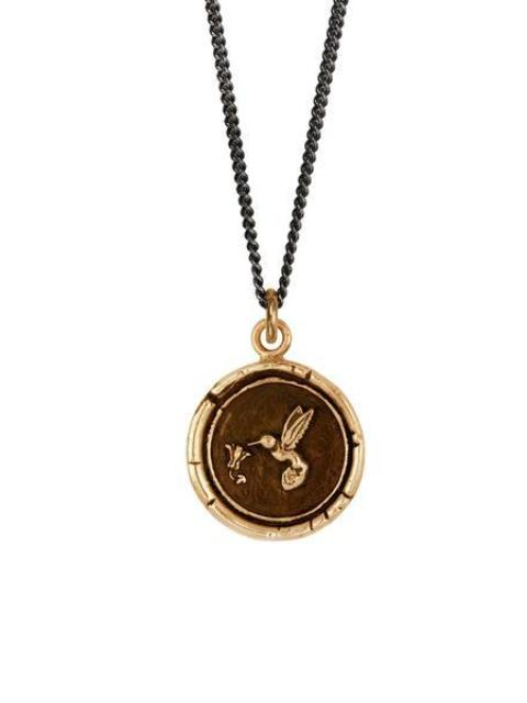 Pyrrha Hummingbird Necklace Bronze