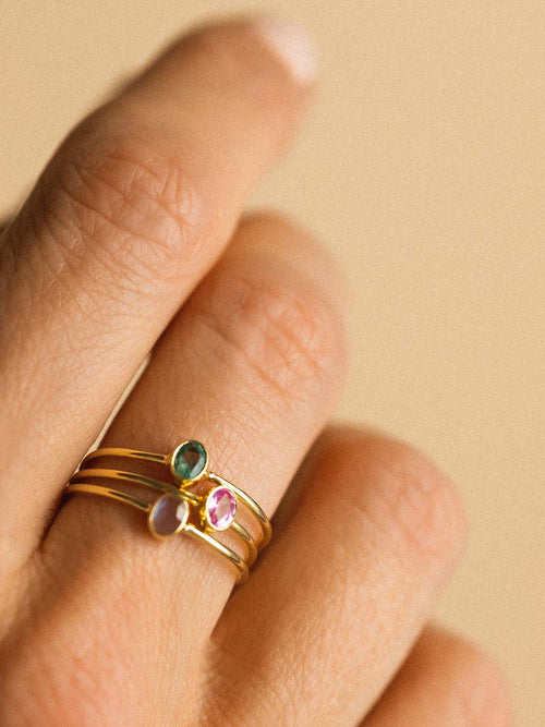 Petite Oval Ring-Leah Alexandra-Sattva Boutique