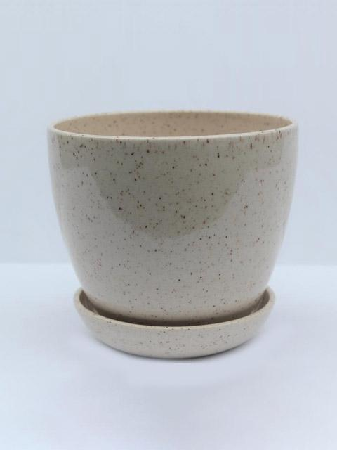Oatmeal Planter with Drip Tray-JAW Pottery-Sattva Boutique