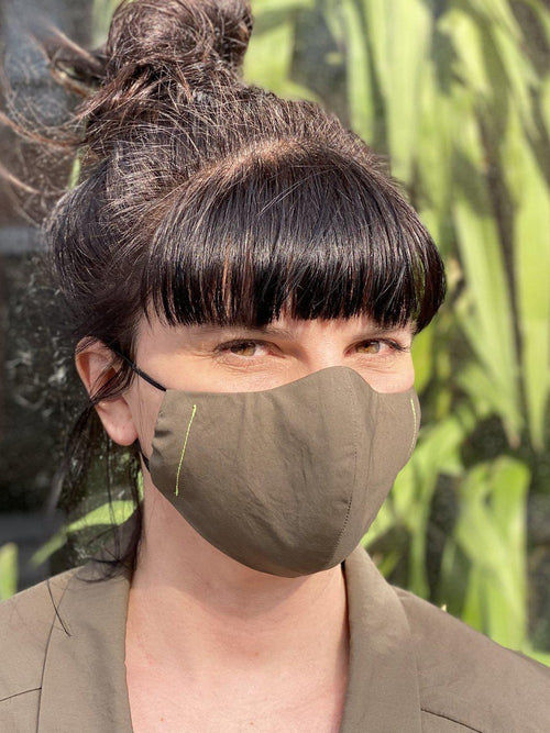 Face Mask Khaki-Accessories - Face Masks-Sattva Boutique