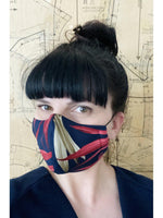 BODYBAG Adult Face Mask Tropical Navy-Accessories - Face Masks-Sattva Boutique