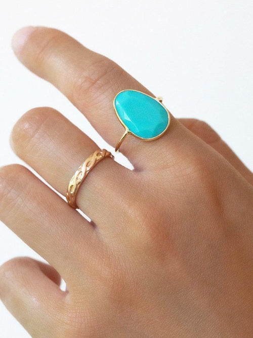 Slice Ring, Turquoise-Jewerly - Rings-Sattva Boutique