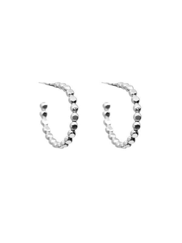 Sprinkle Hoops Silver-Hart + Stone-Sattva Boutique