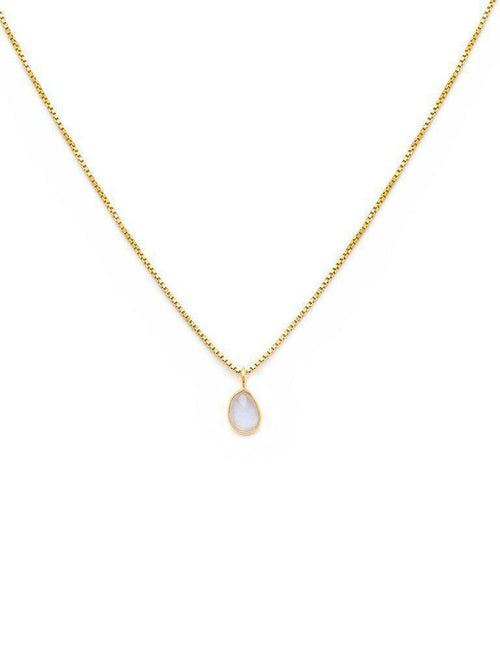 Sofia Slice Necklace-Jewerly - Necklace-Sattva Boutique