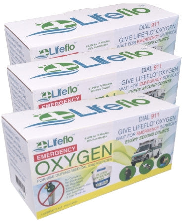 Lifeflo OTC Emergency Oxygen - 3 Pack