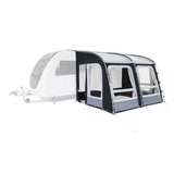 Dometic Rally PRO 330 300D Caravan Porch Awning - Shown attached to caravan