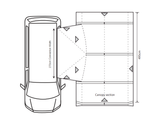Outdoor Revolution Movelite T4 Lowline Drive Away Awning - Floorplan 2