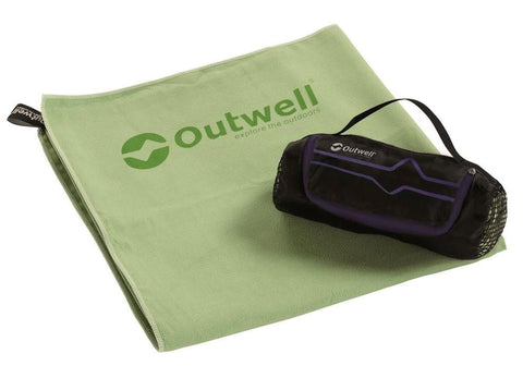 Outwell Micro Pack Towel - Large, main product photo on white background