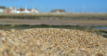 Anstruther beach sand