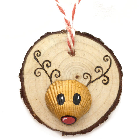 Rudolph the Reindeer - Cockle Shell Christmas Tree Decoration (No. 1137)