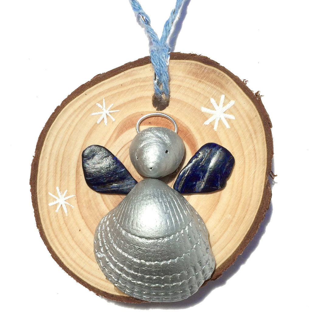 Angel - Cockle, Whelk & Mussel Shell - Christmas Tree Decoration (1425)