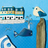 """Seagull, Whale & Anstruther Fish Bar"" Greetings Card (No. 1038)"