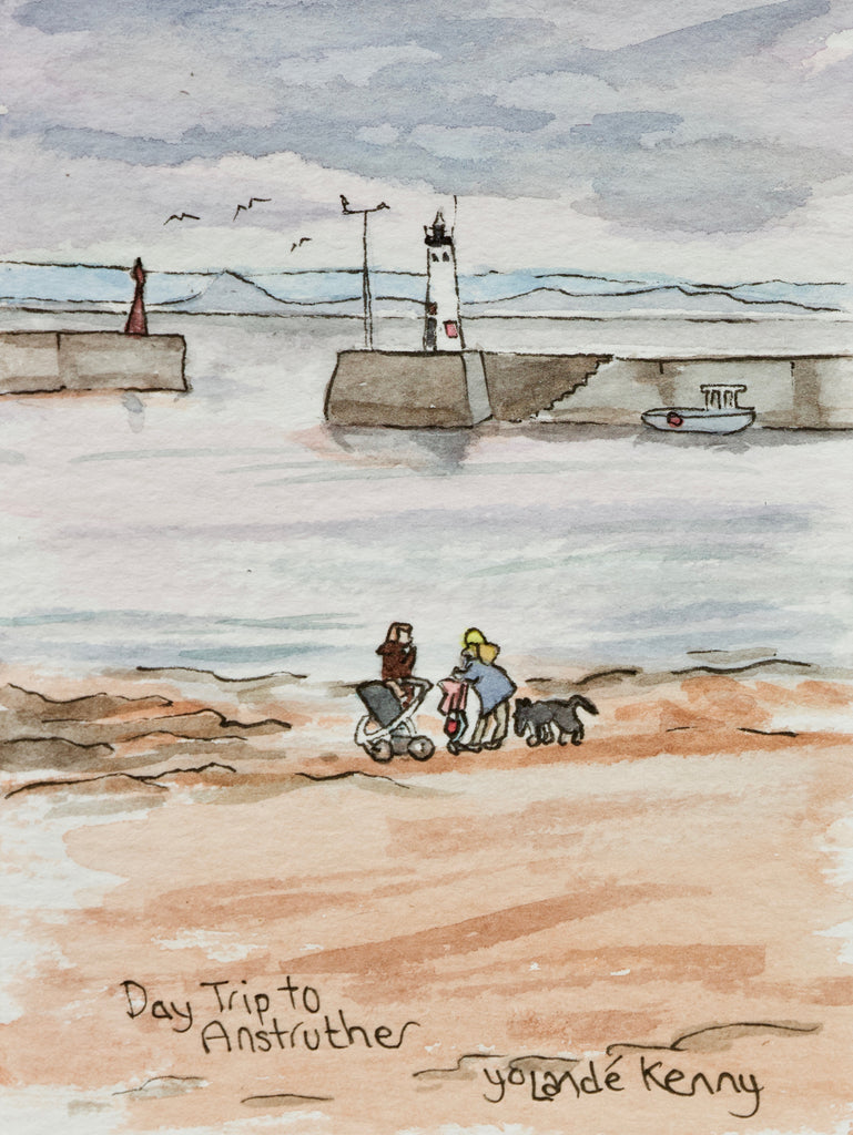 Day Trip to Anstruther  - Limited Edition Watercolour Print by Yolandé Kenny