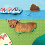 """Highland Cow & Forth Rail Bridge"" Greetings Card (No. 1039)"