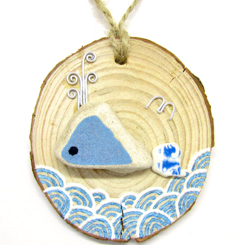 Whale Beach Pottery Wood Hanger (No. 671)