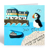 """Puffin, Ferry & Anstruther Fish Bar"" Greetings Card (No. 1037)"