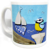 """Blue Tit & Seal"" Ceramic Mug & Gift Box"