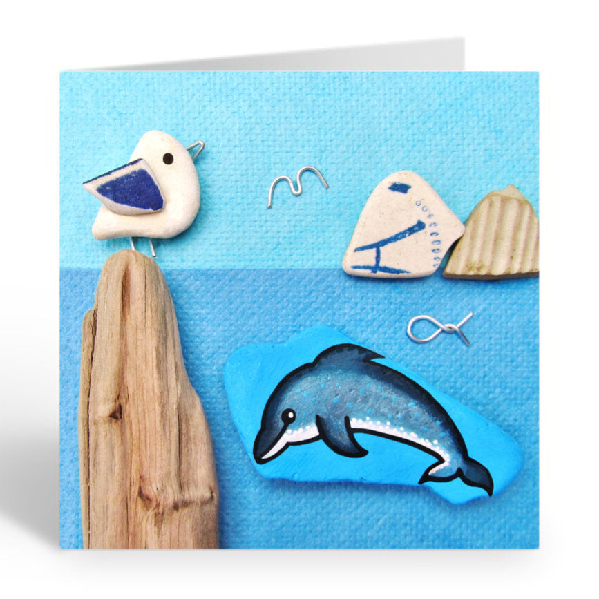 """Dolphin, Seagull & Islands"" Greetings Card (No. 361)"