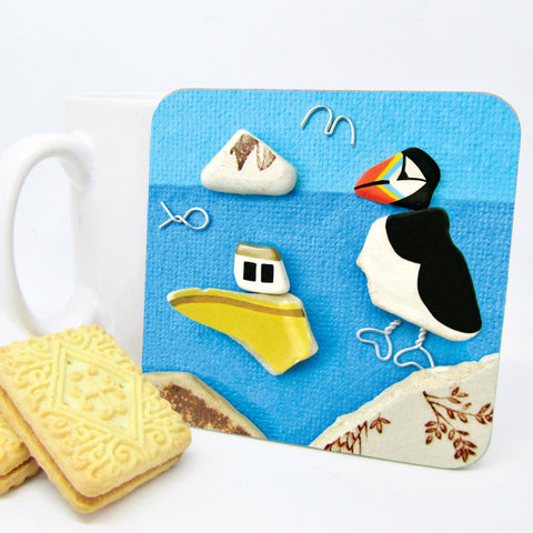 seaside puffin coaster