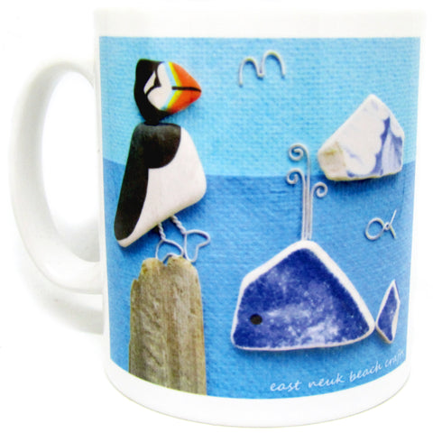 """Pebble Puffin"" Ceramic Mug & Gift Box"