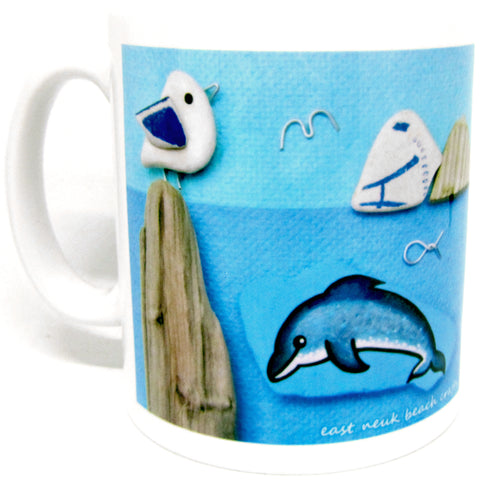 """Pebble Seagull"" Ceramic Mug & Gift Box"