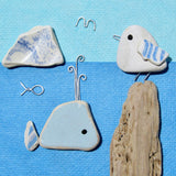 """Seagull & Whale"" Greetings Card (No. 366)"