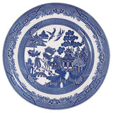 Willow Pattern Whale on Driftwood - Beach Pottery & Pebble Art Ornament (1658)