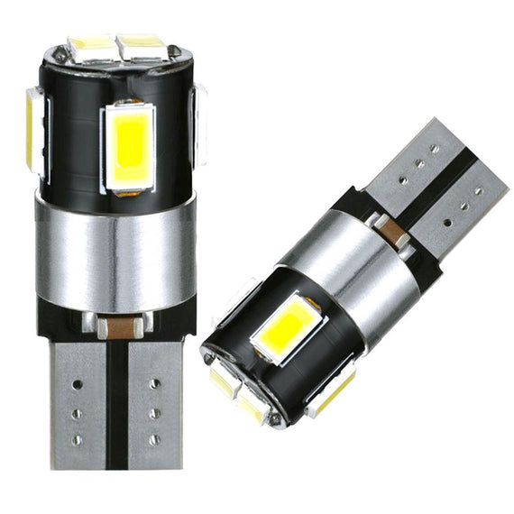 T10 (194/168/158) CanBUS 6-SMD 5630 Xenon White LED Replacement Bulbs - Autolizer