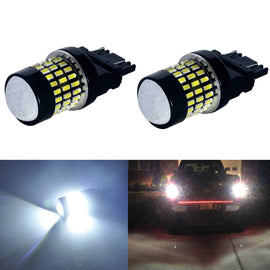 3157 (3156/3056/3057) 78-SMD 3014 LED Bulbs with Projector, Xenon White - Autolizer