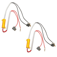 H1, H3 HID & LED 50W 6Ohm Resistor Relay Kit Wiring Harness Adapter - Autolizer