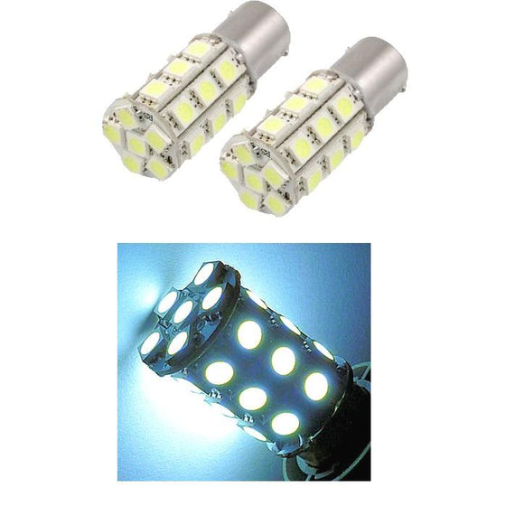 1157 (BAY15D/2037) 27-SMD 5050 LED Replacement Bulbs - 4 Color - Autolizer