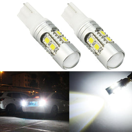 T10/T15 (194/168/158) 10-SMD 2835 Xenon White LED Replacement Bulbs - Autolizer