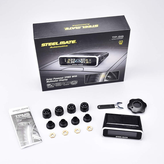STEEL MATE Wireless TPMS Monitor Solar Power Tire Pressure Monitoring System - Autolizer