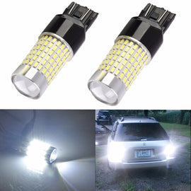 7443 (7440/7441/T20) 144-SMD 3014 LED Bulbs with Projector, Xenon White - Autolizer