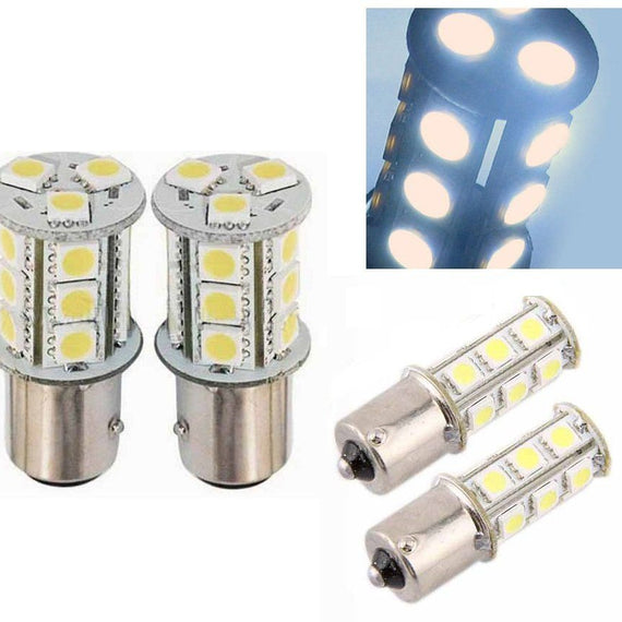 1156 (BA15S/7506/P21W) 18-SMD 5050 LED Replacement Bulbs - 4 Color - Autolizer
