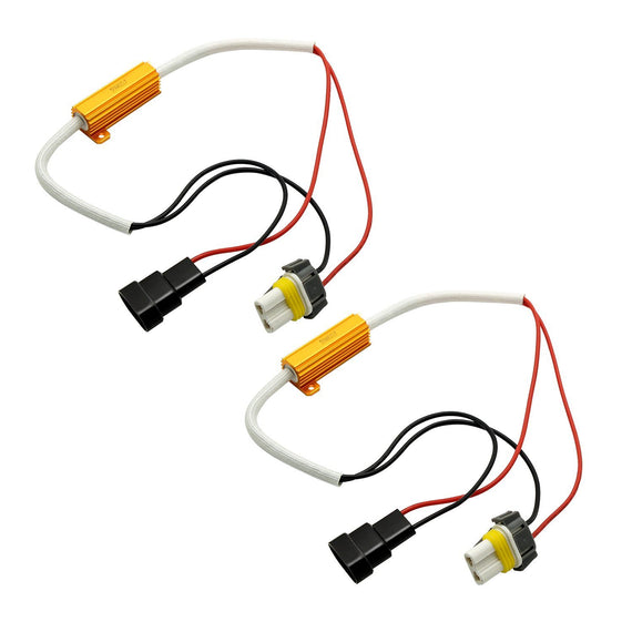H11 (H8 H9) HID & LED 50W 6Ohm Resistor Relay Kit Wiring Harness Adapter - Autolizer