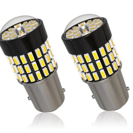 1156 (BA15S/7506/P21W) 78-SMD 3014 LED Bulbs with Projector, Xenon White - Autolizer