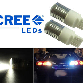 7443 (7440/7441/T20) 5-Watt CREE LED Bulbs with Projector, Xenon White - Autolizer