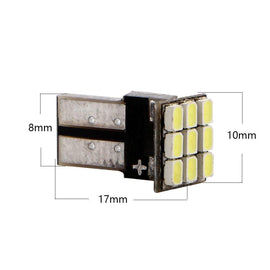 T10 (194/168/158) CanBus 9-SMD 1206 Xenon White LED Replacement Bulbs - Autolizer