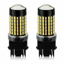 3157 (3156/3056/3057) 120-SMD 3014 LED Switchback Bulbs with Projector, White/Yellow - Autolizer