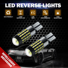 T10/T15 (194/168/158) CanBUS 54-SMD 3014 Xenon White LED Replacement Bulbs - Autolizer