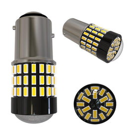 1157 (BAY15D/2037) 78-SMD 3014 LED Bulbs with Projector, Xenon White - Autolizer