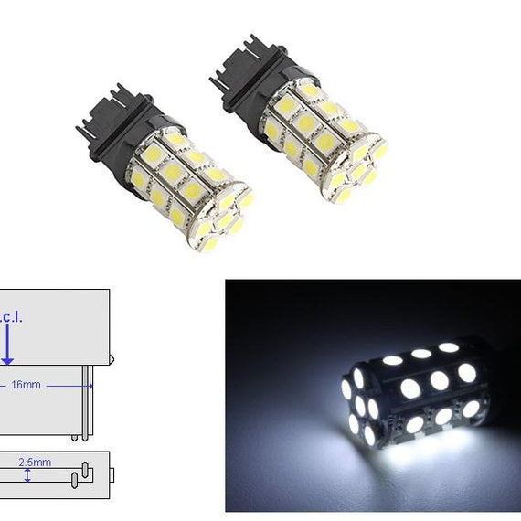 3157 (3156/3056/3057) 27-SMD 5050 LED Replacement Bulbs - 4 Color - Autolizer