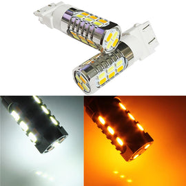 3157 (3156/3056/3057) 22-SMD 5730 LED Switchback Bulbs, White/Yellow - Autolizer