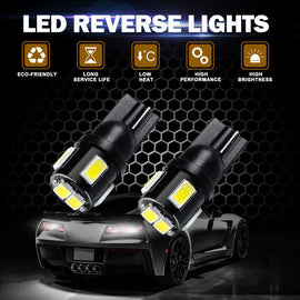 T10 (194/168/158) 6-SMD 5630 Xenon White LED Replacement Bulbs - Autolizer