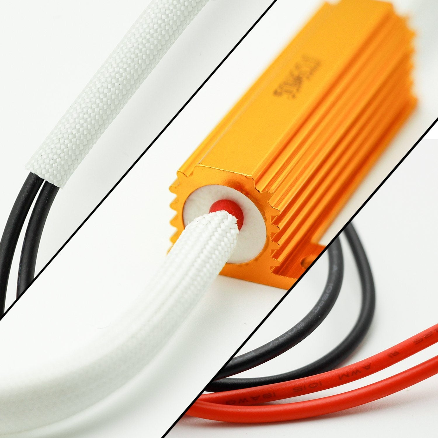 H7 Hid Led Kit 50w 6ohm Resistor Warning Canceler Relay Harness 194 Wiring Adapter