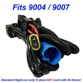 HID Kit 9007 (9004 HB1 HB5) Single Hi/Lo Beam Wire Relay Harness 12V 35W/55W H/L Wiring - Autolizer