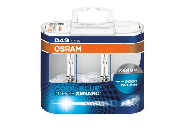 Osram D4S Duo Cool Blue Intense Xenarc HID Xenon Headlight Replacement Bulbs - 66440CBI-DUO - 1 Pair / 2 PCS - Autolizer