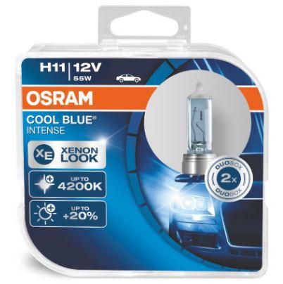 Osram H11 (H8 H9) Cool Blue Intense Halogen Headlight Replacement Bulbs - 64211CBI - 1 Pair - Autolizer