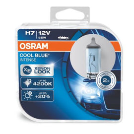 Osram H7 Cool Blue Intense Halogen Headlight Replacement Bulbs - 64210CBI - 1 Pair - Autolizer